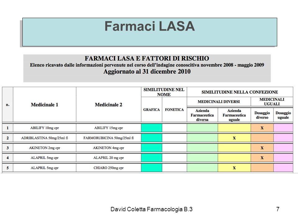 Farmaci LASA David Coletta Farmacologia B.3