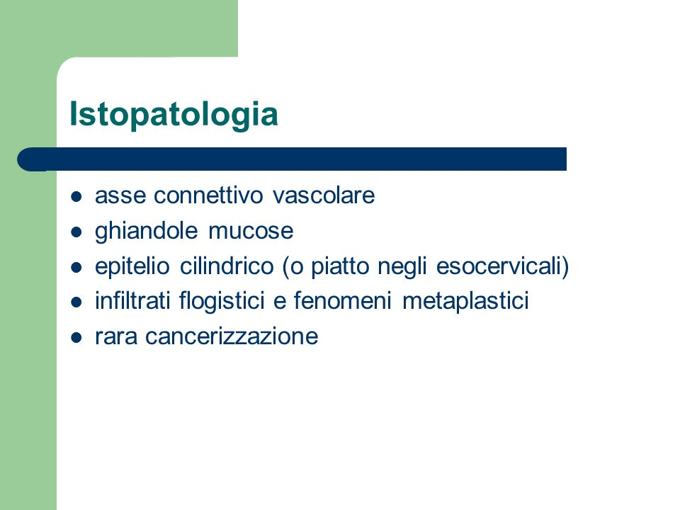 Istopatologia asse connettivo vascolare ghiandole mucose