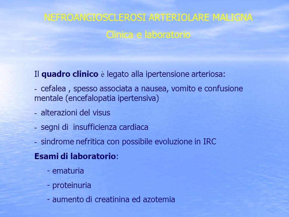 NEFROANGIOSCLEROSI ARTERIOLARE MALIGNA