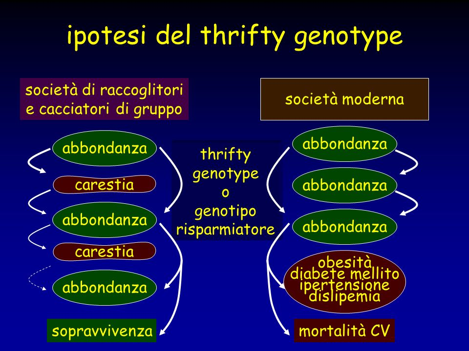 ipotesi del thrifty genotype