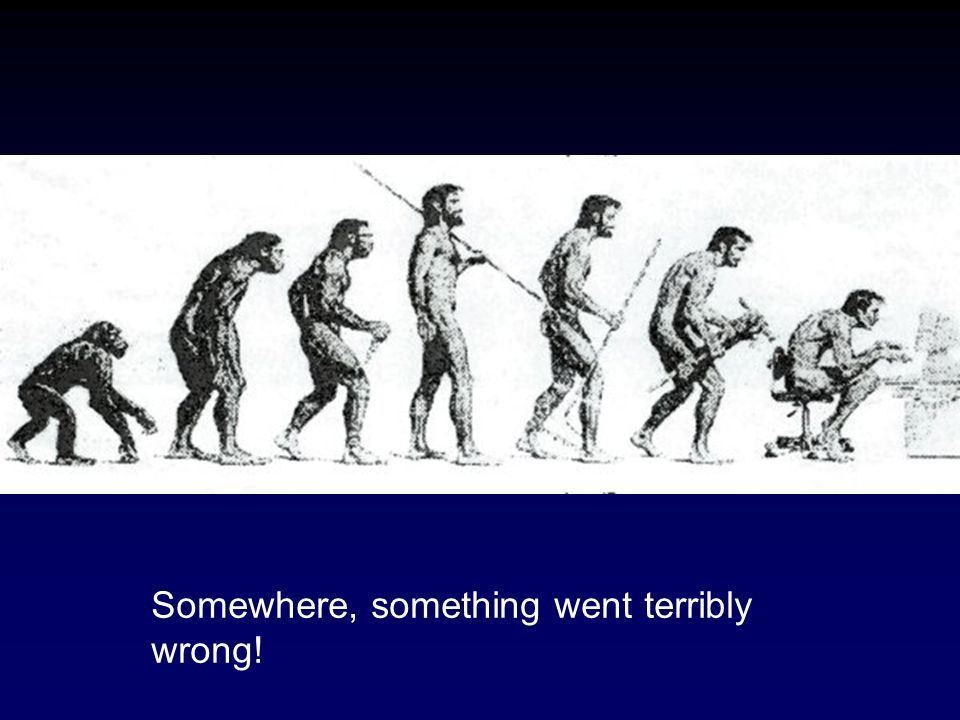 Somewhere, something went terribly wrong!