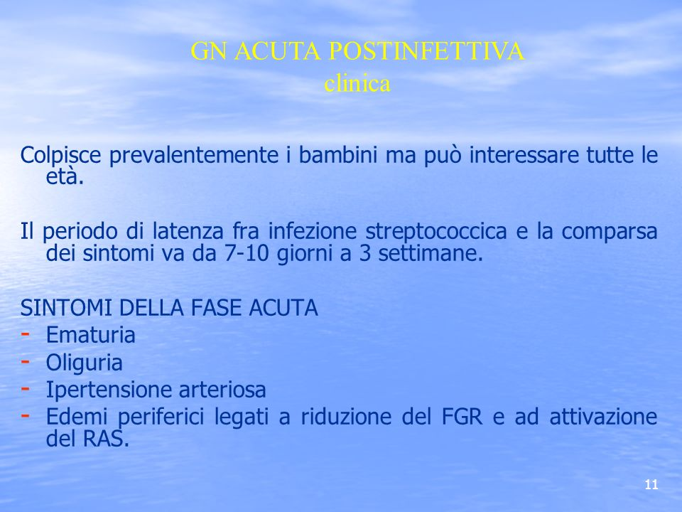 GN ACUTA POSTINFETTIVA clinica