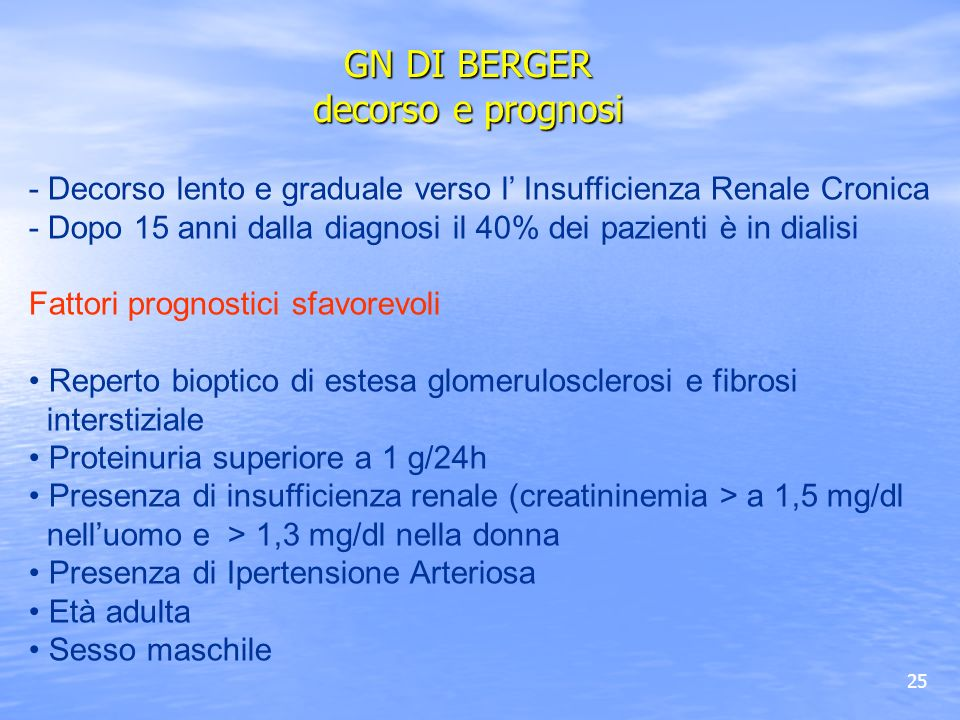 GN DI BERGER decorso e prognosi
