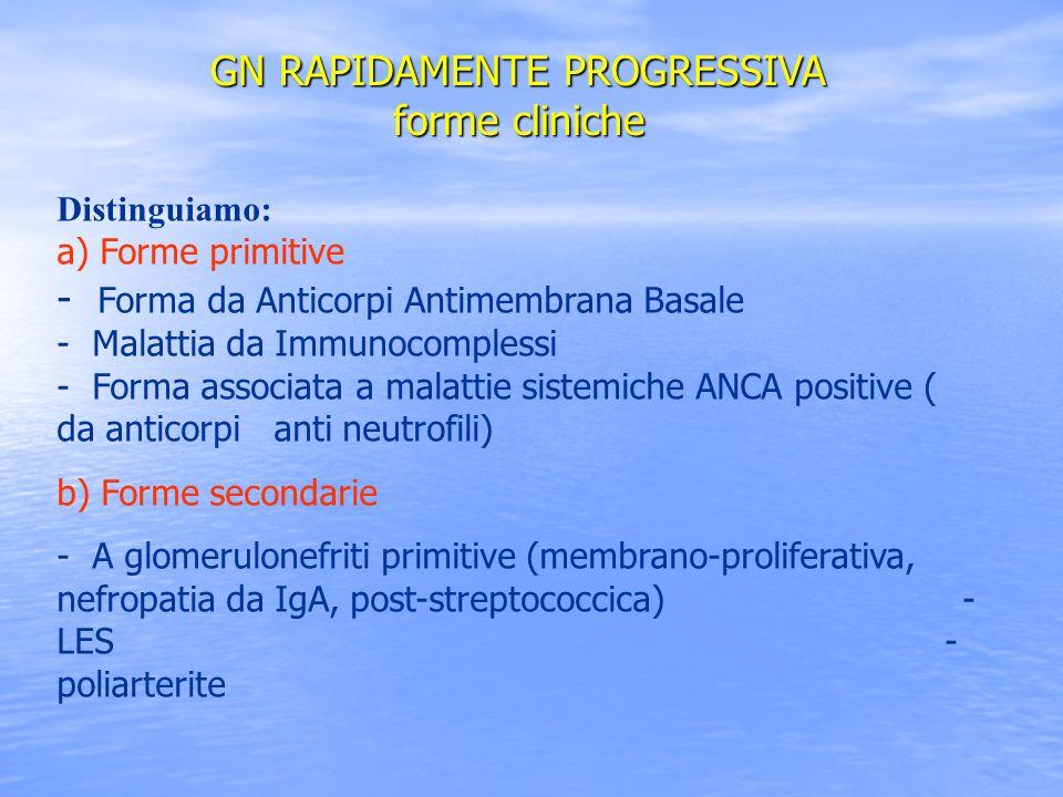 GN RAPIDAMENTE PROGRESSIVA forme cliniche