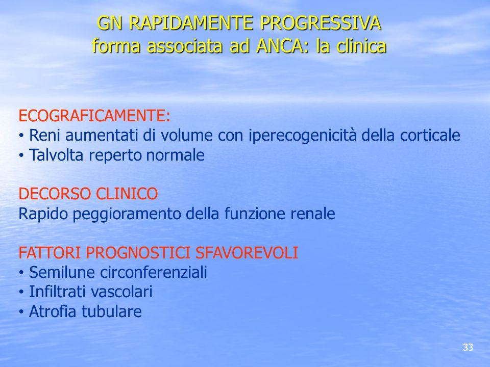GN RAPIDAMENTE PROGRESSIVA forma associata ad ANCA: la clinica