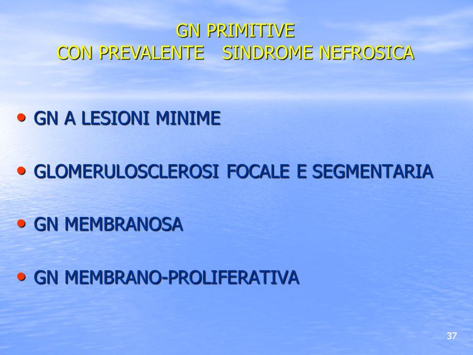 GN PRIMITIVE CON PREVALENTE SINDROME NEFROSICA