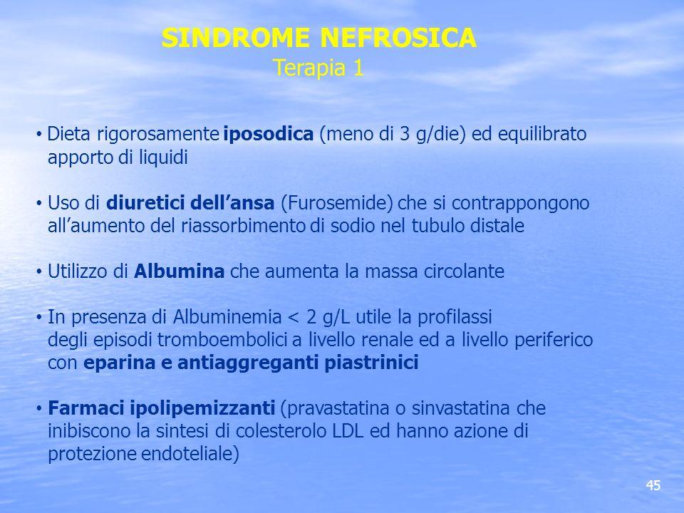 SINDROME NEFROSICA Terapia 1
