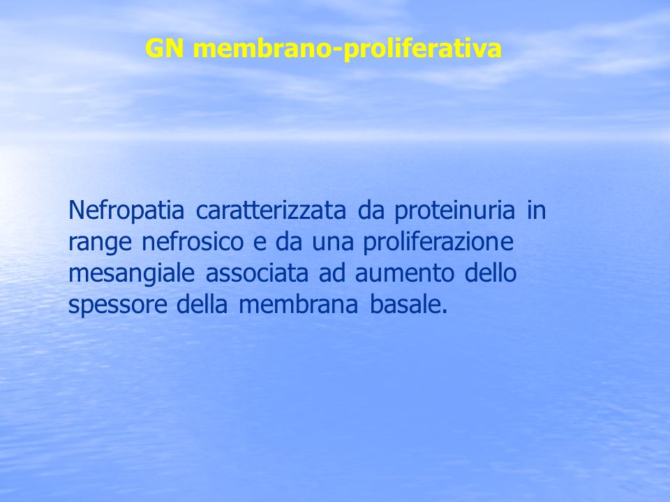 GN membrano-proliferativa