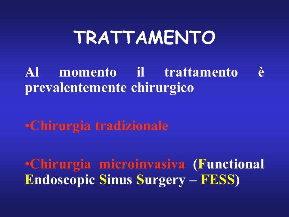 TRATTAMENTO Al momento il trattamento è prevalentemente chirurgico