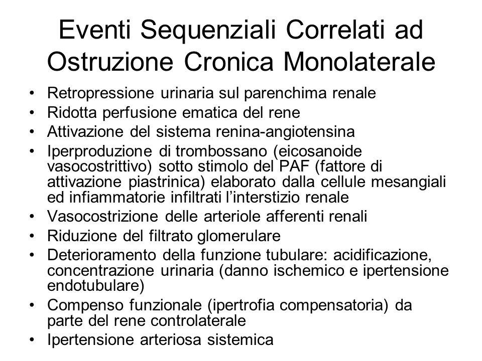 Eventi Sequenziali Correlati ad Ostruzione Cronica Monolaterale