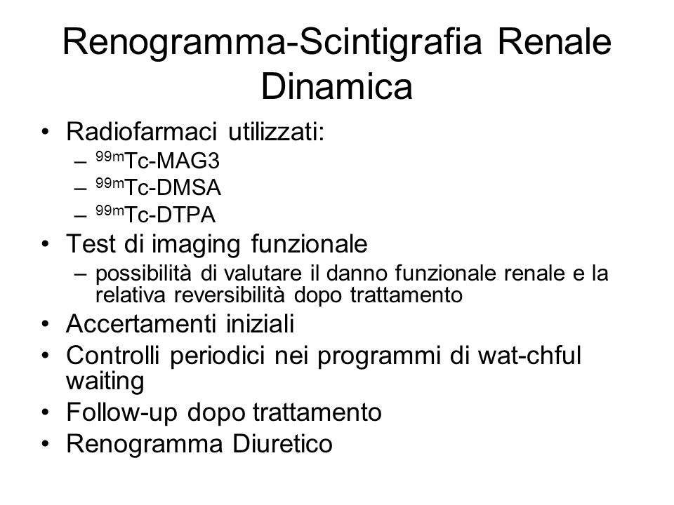 Renogramma-Scintigrafia Renale Dinamica