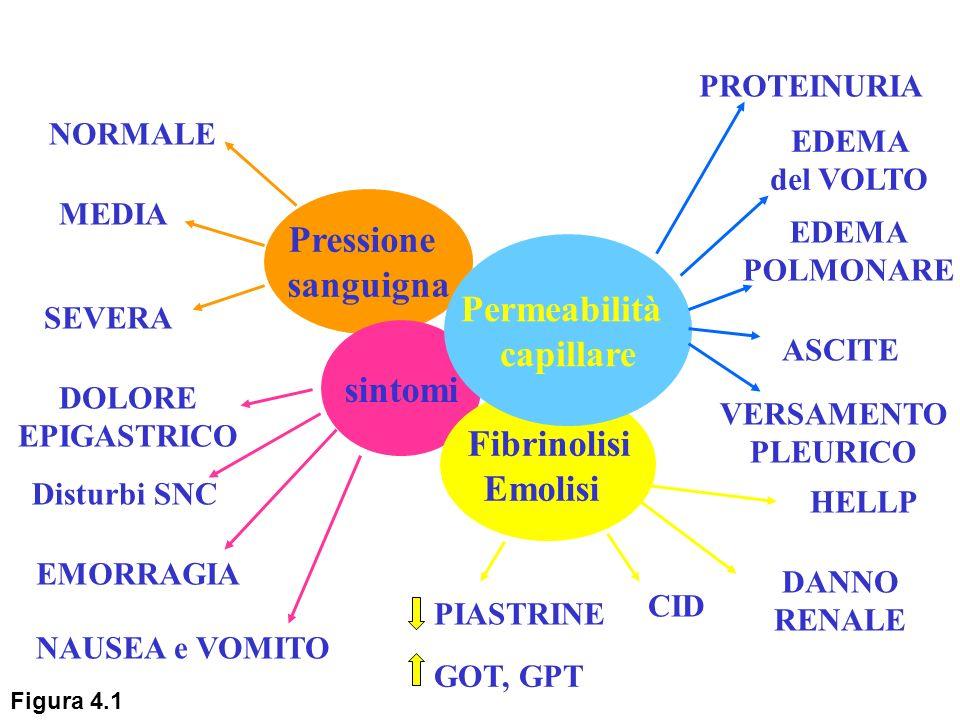 Pressione sanguigna Permeabilità capillare sintomi Fibrinolisi Emolisi