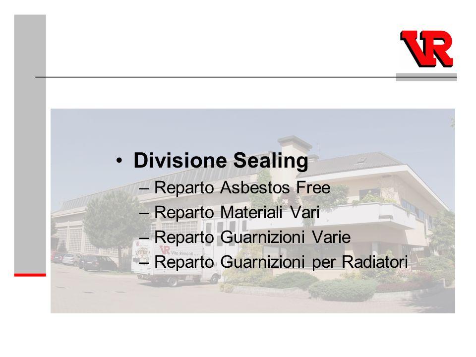 Divisione Sealing Reparto Asbestos Free Reparto Materiali Vari