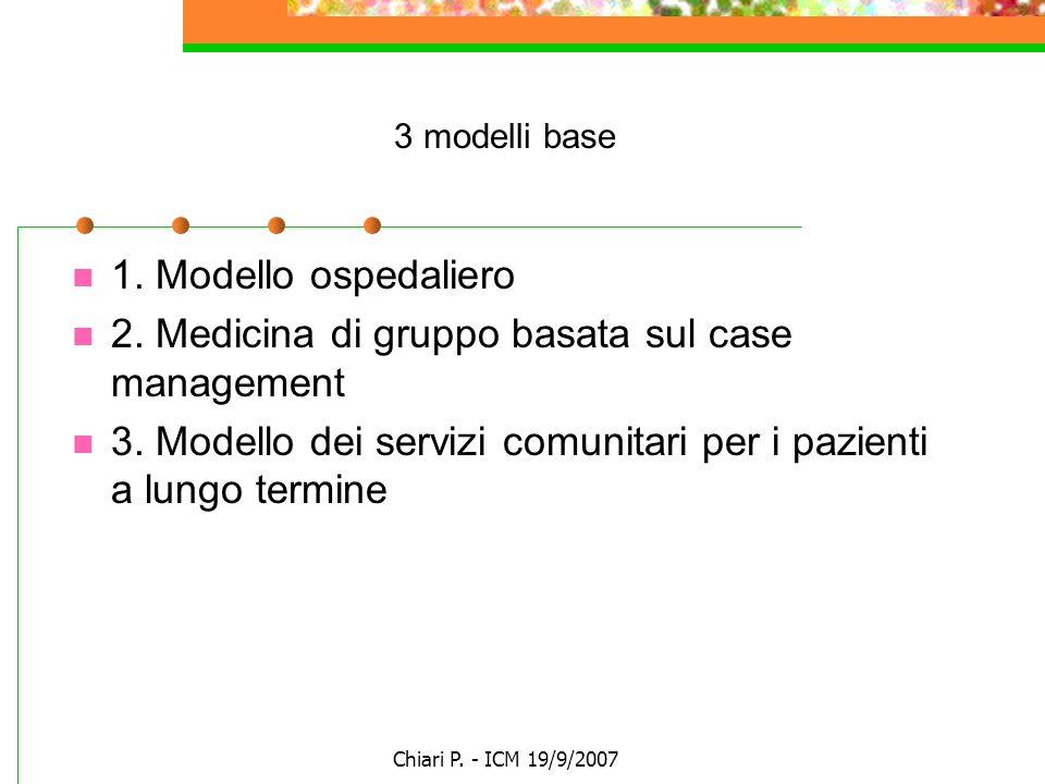2. Medicina di gruppo basata sul case management