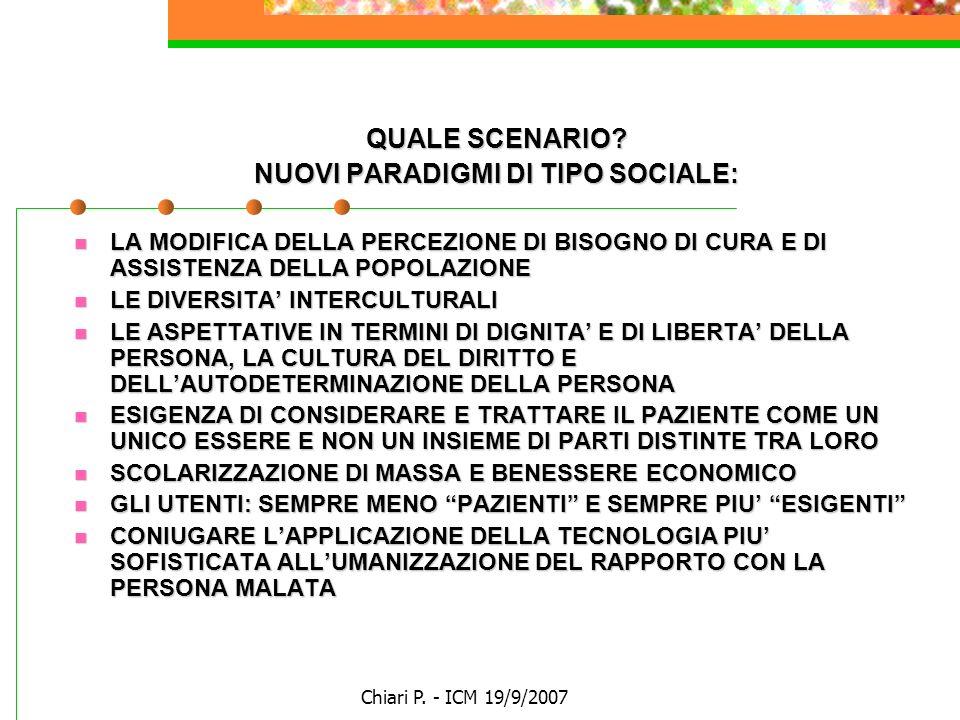 NUOVI PARADIGMI DI TIPO SOCIALE: