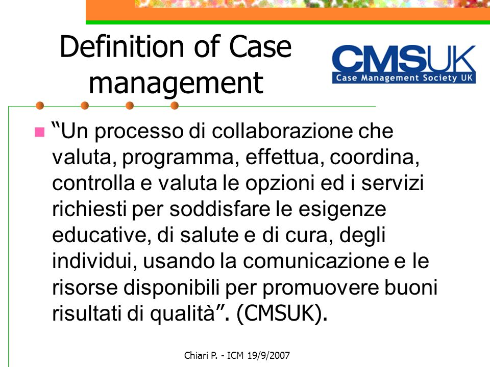 Definition of Case management
