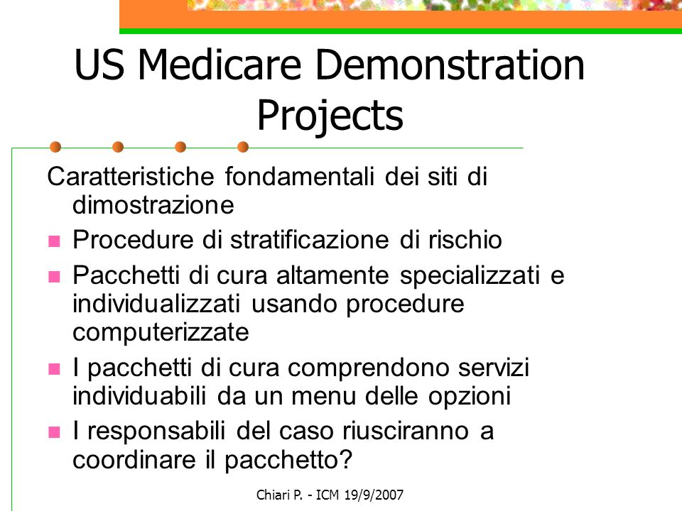 US Medicare Demonstration Projects