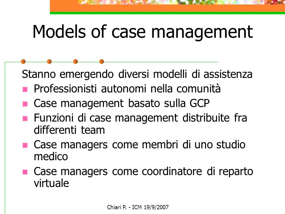 Models of case management