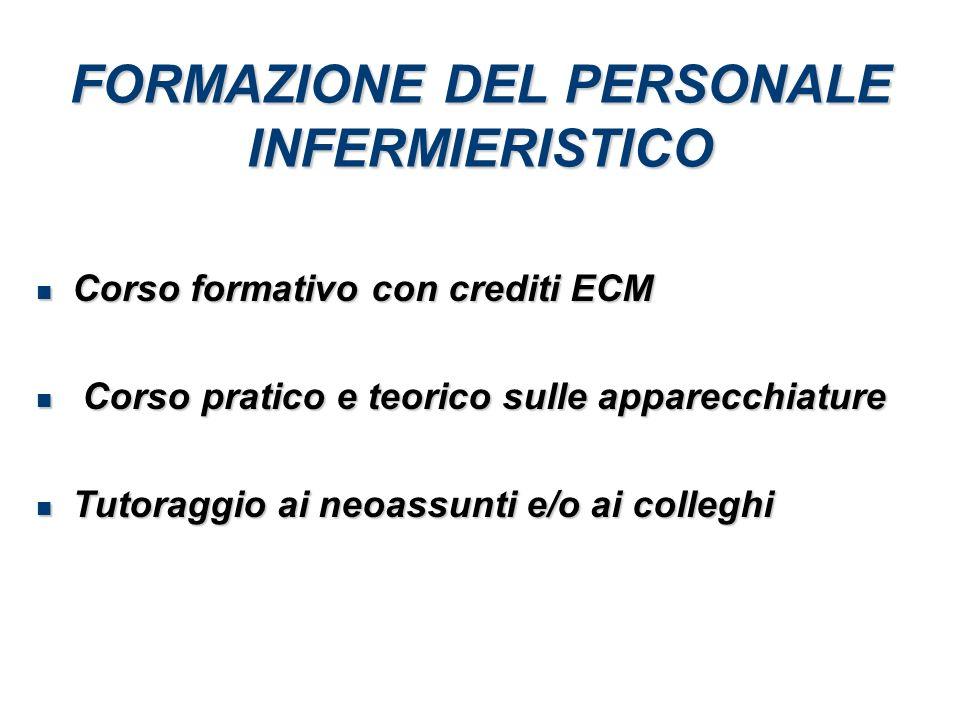FORMAZIONE DEL PERSONALE INFERMIERISTICO