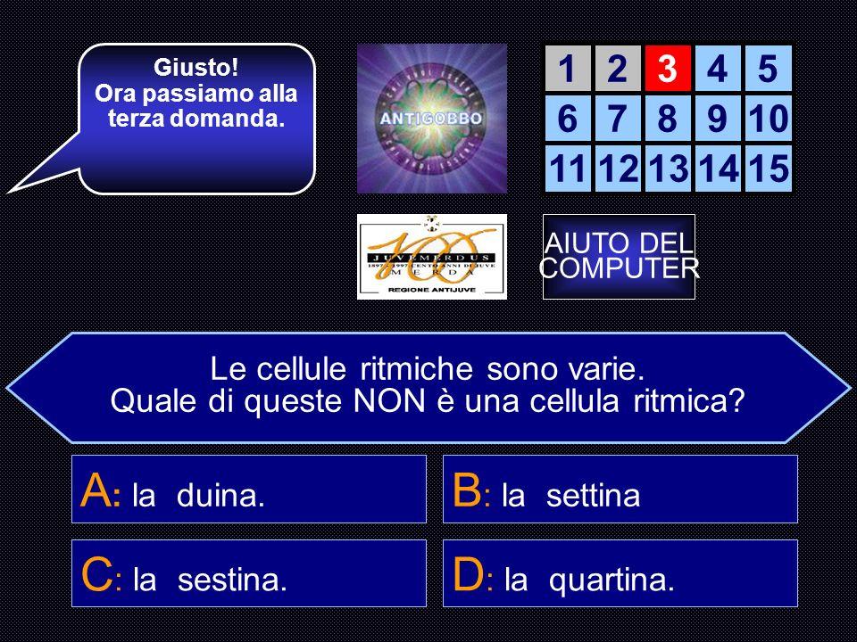 Ora passiamo alla terza domanda.