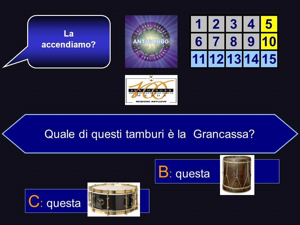 Quale di questi tamburi è la Grancassa