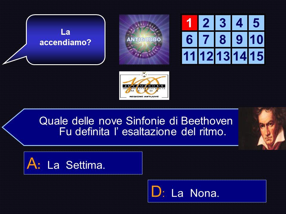 La accendiamo 1. 2. 3. 4. 5. 6. 7. 8. 9. 10. 11. 12. 13. 14. 15. Quale delle nove Sinfonie di Beethoven.