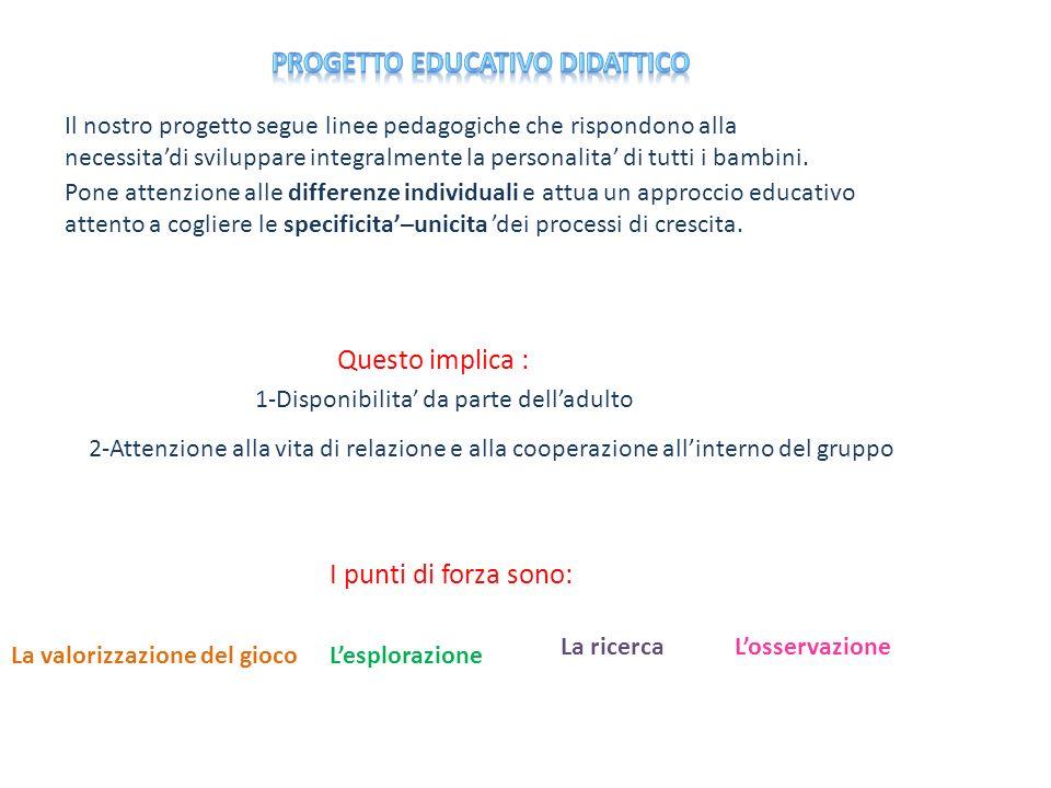 Progetto educativo didattico