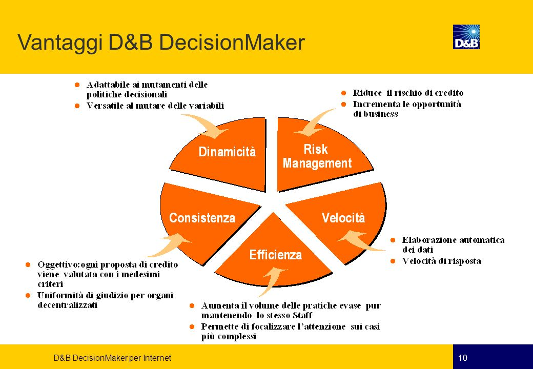 Vantaggi D&B DecisionMaker