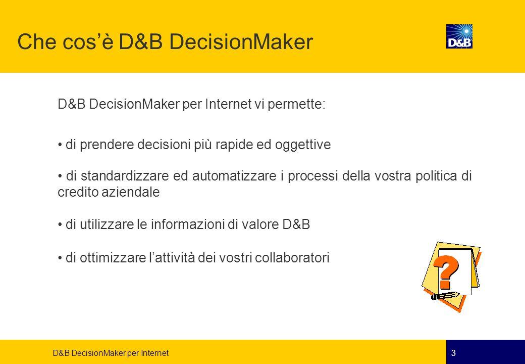 Che cos'è D&B DecisionMaker