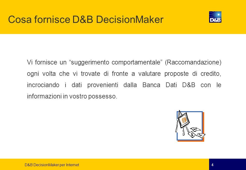 Cosa fornisce D&B DecisionMaker