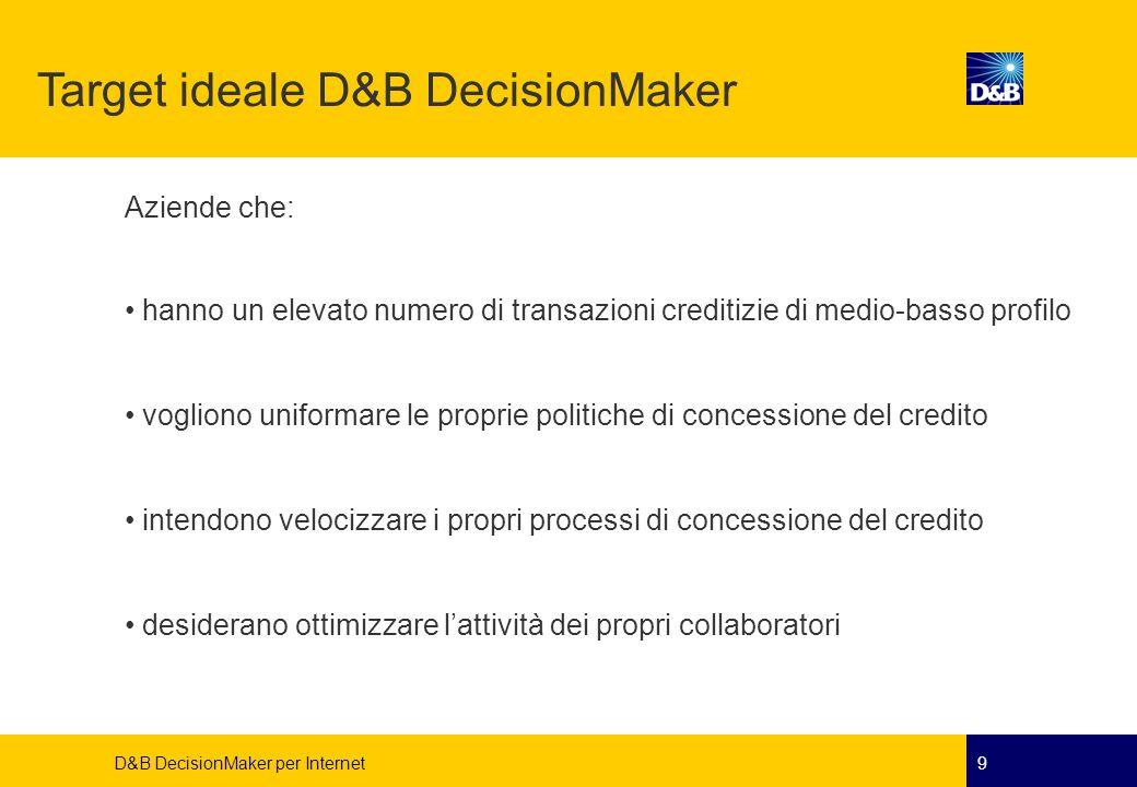 Target ideale D&B DecisionMaker