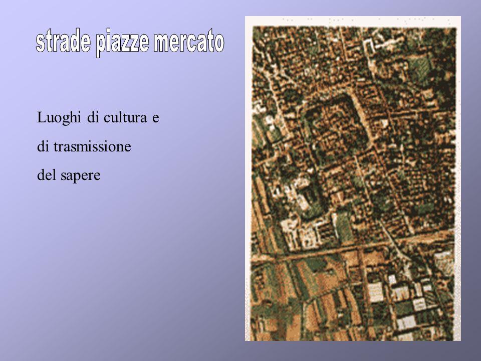 strade piazze mercato Luoghi di cultura e di trasmissione del sapere