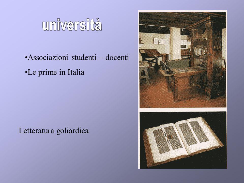 Associazioni studenti – docenti Le prime in Italia