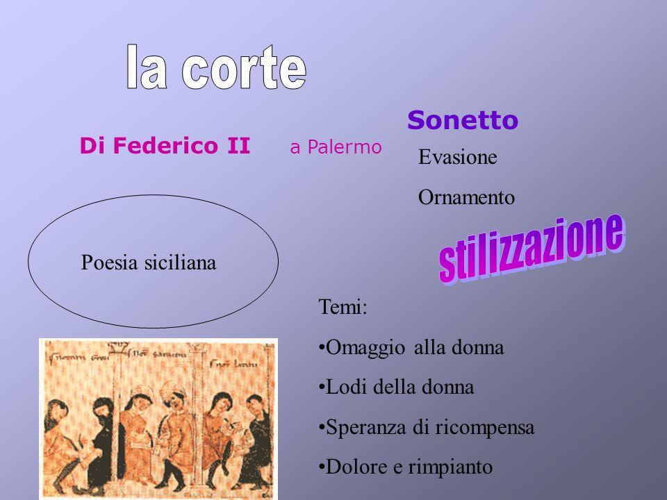 Sonetto Di Federico II a Palermo Evasione Ornamento Poesia siciliana