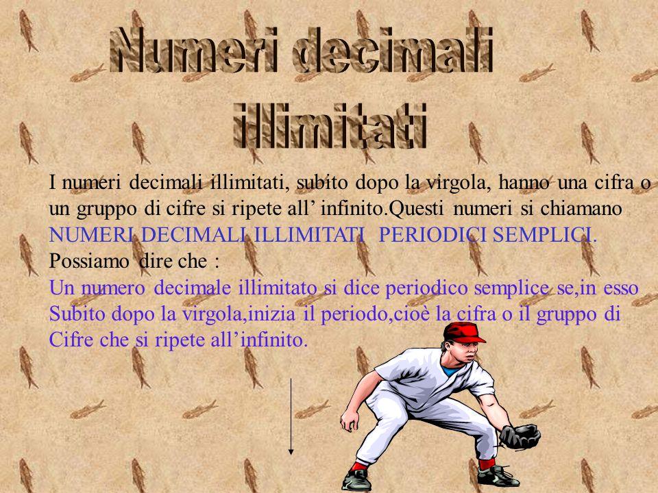 Numeri decimali illimitati