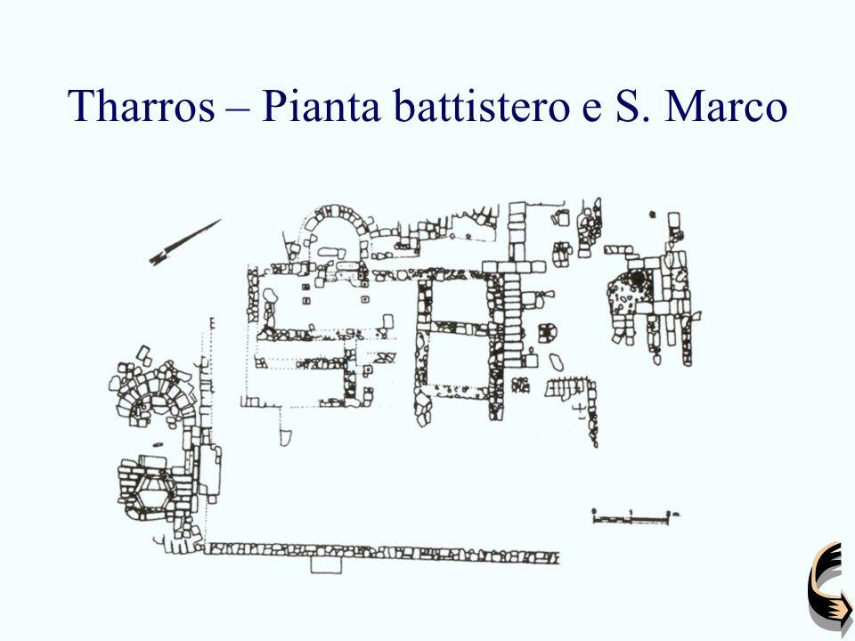 Tharros – Pianta battistero e S. Marco