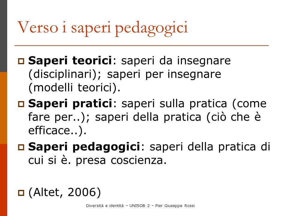 Verso i saperi pedagogici
