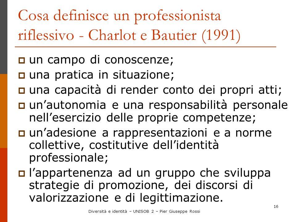 Cosa definisce un professionista riflessivo - Charlot e Bautier (1991)