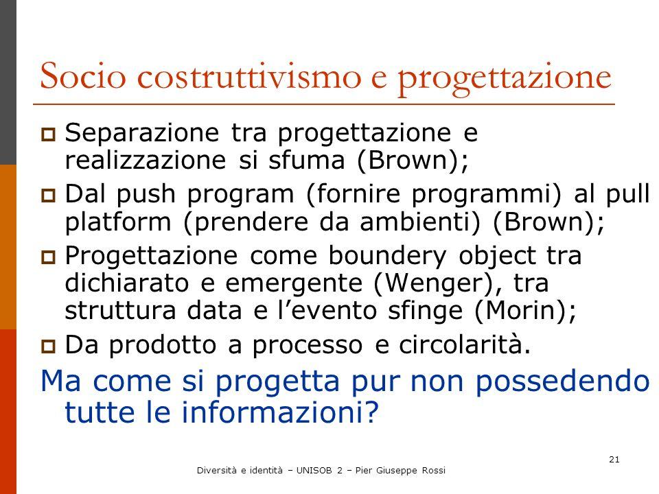 Socio costruttivismo e progettazione