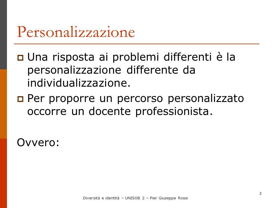 Diversità e identità – UNISOB 2 – Pier Giuseppe Rossi
