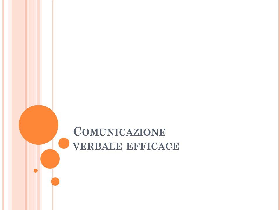 Comunicazione verbale efficace