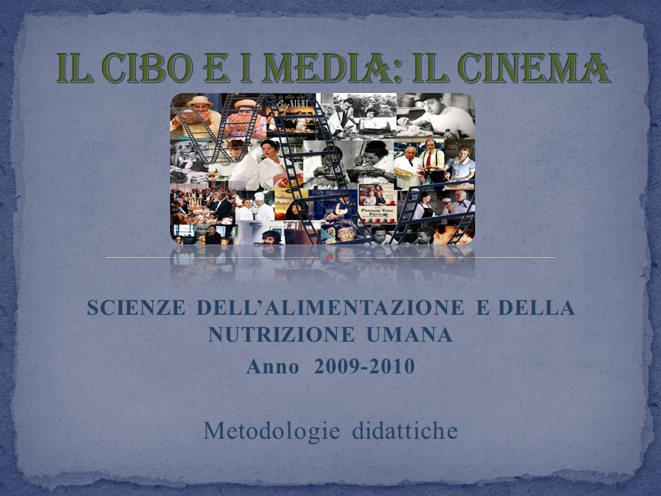 Il cibo e i media: Il cinema