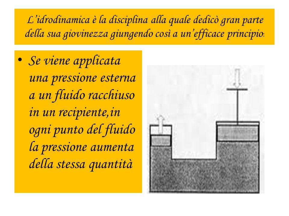 L'idrodinamica è la disciplina alla quale dedicò gran parte della sua giovinezza giungendo così a un'efficace principio: