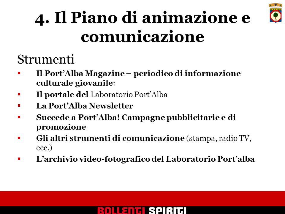 4. Il Piano di animazione e comunicazione