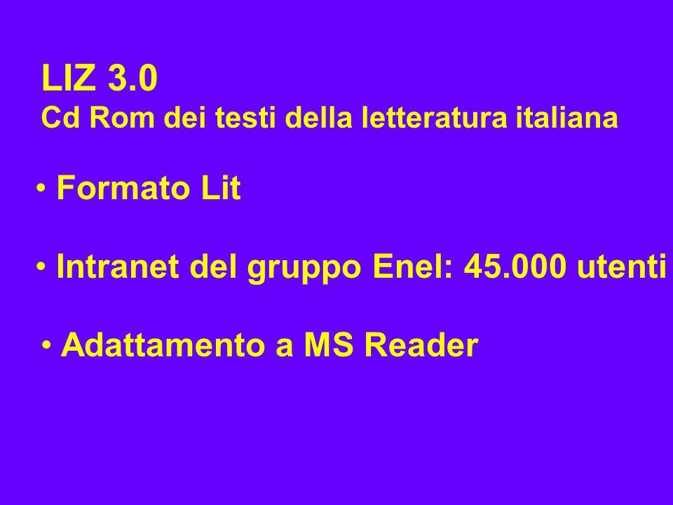 LIZ 3.0 Formato Lit Intranet del gruppo Enel: 45.000 utenti