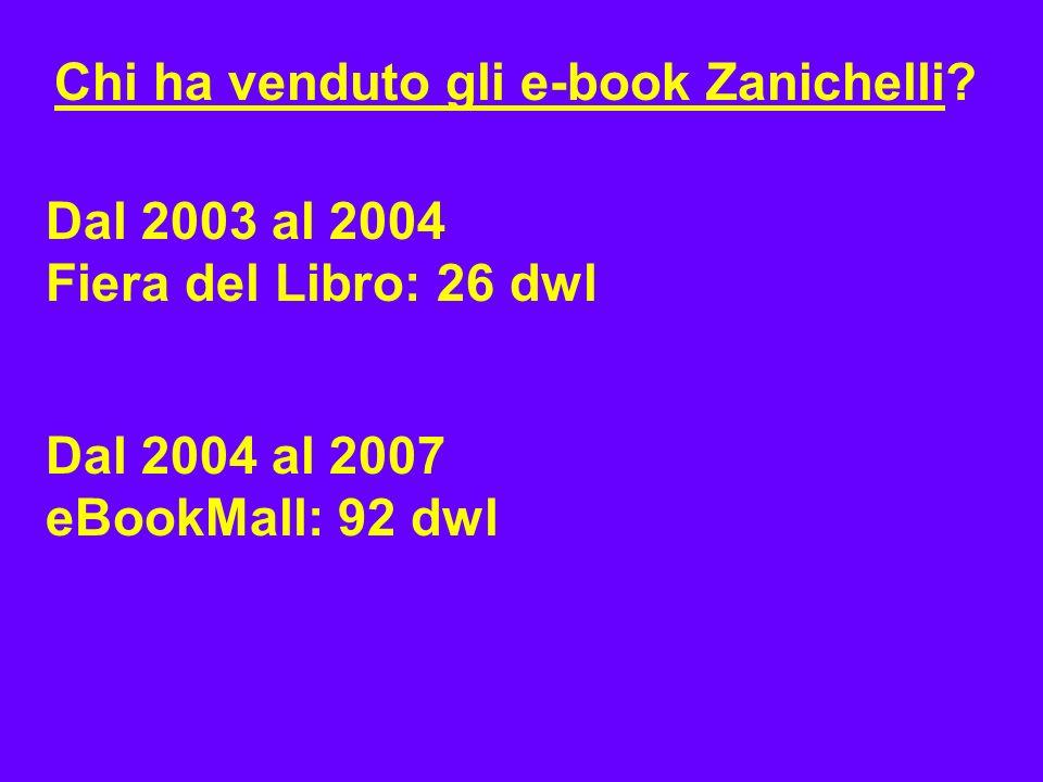 Chi ha venduto gli e-book Zanichelli