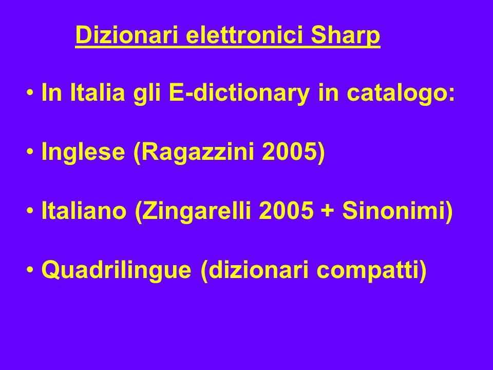 Dizionari elettronici Sharp
