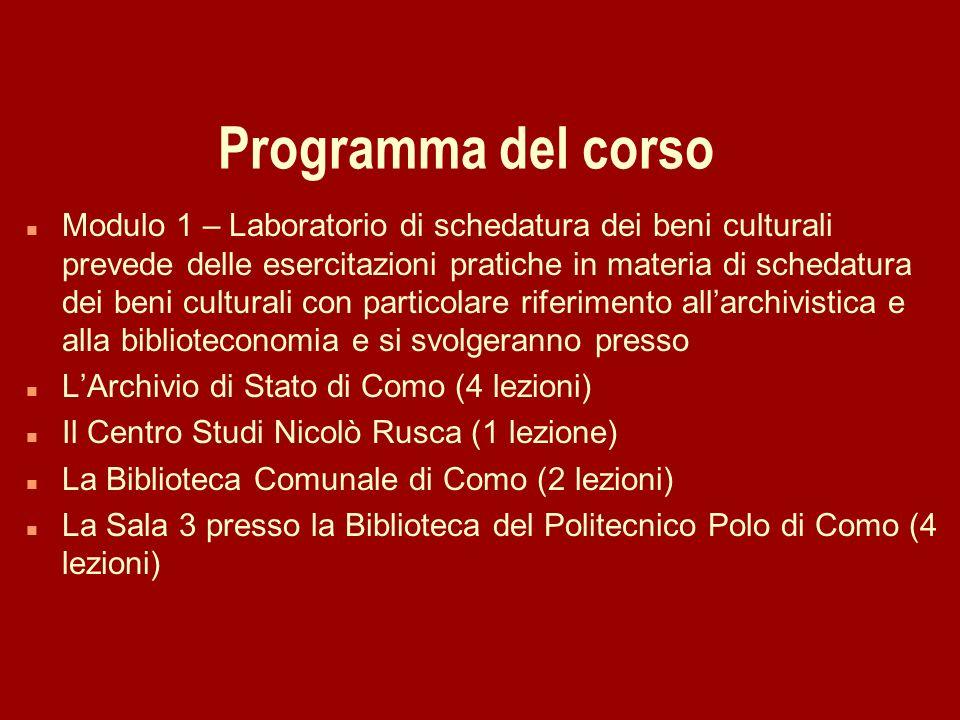 29/03/2017Programma del corso.