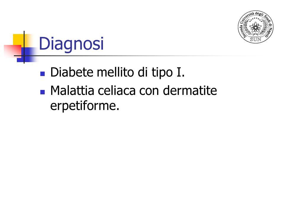 Diagnosi Diabete mellito di tipo I.