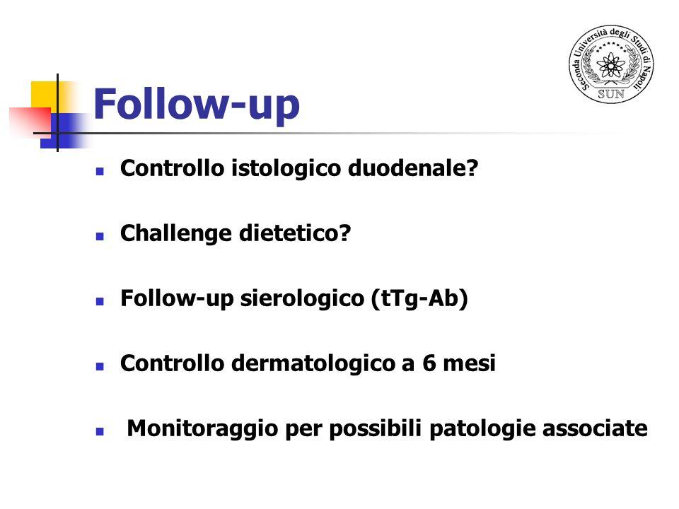 Follow-up Controllo istologico duodenale Challenge dietetico